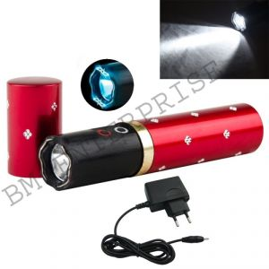 Buy Details About Rechargeable Lipstick Design Shock Torch Flashlight Stungun Self Defence online