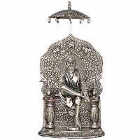 Buy Shirdi Sai Baba Idol,oxidized Silver Finish Metal Statue,handicrafts Gift online