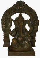 Buy Beautiful Antique Finish Brass Hinduism Ganesha/ganesh Temple Figurine Home Br10114 online