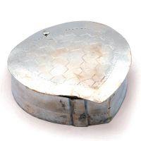 Buy Silver Polished Leaf Shape Stylish Puja Box 224 online