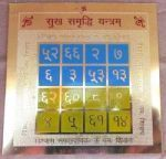 Buy Sri Sukh Samriddhi Yantra (energized) Gold Plated online
