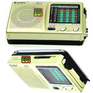 Buy Eci Original Kaide World 9 Band Radio Receiver Transistor Portable AM FM SW online
