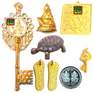 Buy Eci Original 8pc Kuber Kunji Set, Wish Turtle Money Key Yantra Kunghi Kungi online