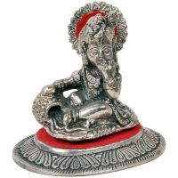 Buy Sunshine Rajasthan White Metal Lord Ladoo Gopal Krishna Puja Idol 318 online