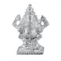 Buy Jpearls Holy Ganesh Silver Idol online
