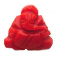 Buy Ganesha Carved On Synthetic Triangular Red Corel online