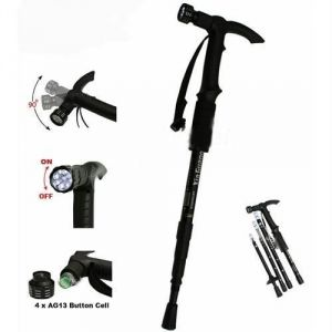 Buy Packnbuy Walking/trecking Stick With Torch And Compass online