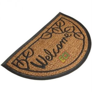 Buy Semi Circle Coir Welcome Doormat, Outdoor Door Mat online
