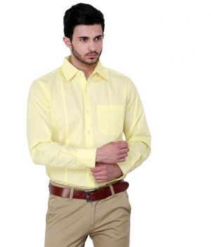 Buy The Classy Lemon Yellow Shirt For Men online
