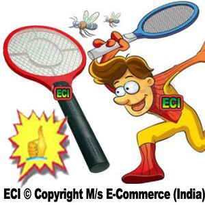 Buy Eci - Premium Mosquitoes Repellent Racket Flies Repeller Electric Shock Bat online