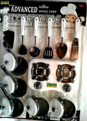 Buy Eci Small Chef Kitchenware Plastic 17pcs Kitchen Set Toy For