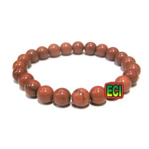 Buy Eci - Original Red Jasper Gemstone Bracelet Semiprecious Stone Beads online