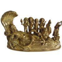 Buy Lord Vishnu Laxmi Brass Statue,laxmi Narayan Religious God Brass Idol online