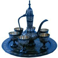 Buy Sunshine Rajasthan Antique Black Royal Wine Set Pure Brass Handicraft 182 online