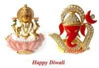 Buy Auspicious Ganesha & Laxmi Idols In Cz Diamonds online