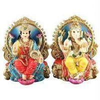 Buy Metal Lakshmi Ganesh Idol online