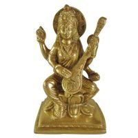 Buy Devi Saraswati Brass Statue,religious God Idol For Pooja,statue For Temple online