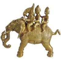 Buy Shree Ganesha And Riddhi Siddhi On Elephant Brass Statues,god Idols online