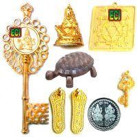 Buy Eci Original 8pc Kuber Kunji Set, Wish Turtle Money Key Yantra Kunghi Kungi online
