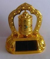 Buy Feng Shui Tibetan Solar Prayer Wheel Dharma Metallic High Quality Wheel For online