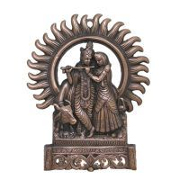 Buy Divya Mantra Radha Krishna Wall Decorative Antique Copper Finish online