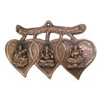 Buy Laxmi Ganesh Saraswati Wall Decorative Antique Copper Finish online
