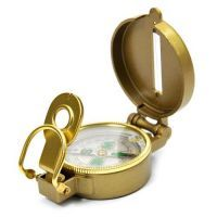 Buy Brass Finish Magnetic Compass With Cover- Useful In Fengshui, Vastu And Tra online