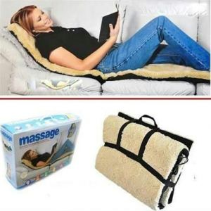 Buy Soft Velvet Massage Bed, Remote Controlled Full Body Massaging Mat Massager online