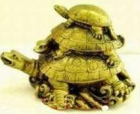 Buy Fengshui 3 Turtle On Each Other For Health And Wealth Feng Shui online