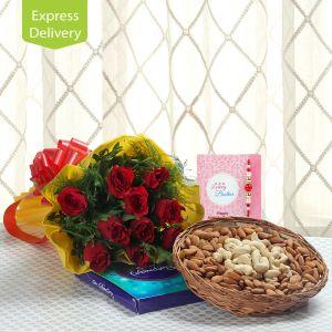 Buy Rakhi Combo Of Cheerfulness online