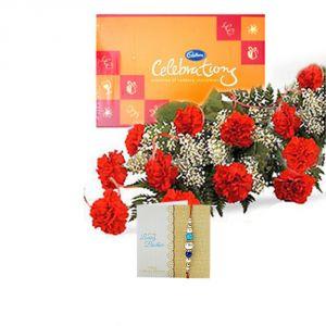 Buy Express Rakhi - Celebration With Carnation online