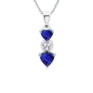 Buy Aggemdiamond Blue Heart Gemstones Dangling Pendant online