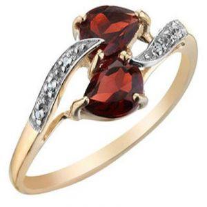 Buy Ag Gem Real Diamond Red Pear Gemstones Ring online