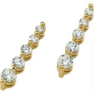 Buy Ag Real Diamond Ten Stone Dangling Fancy Earring online