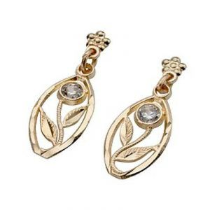 Buy Ag Real Diamond Fancy Plant Shape Earrings online