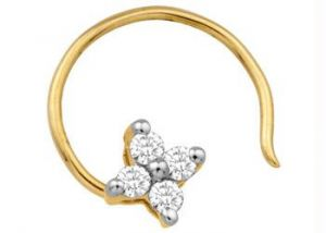 Buy Ag Real Diamond Pressure Set Nose Ring Agsno007 online