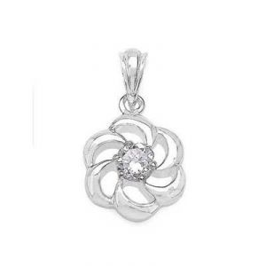 Buy BEAUTIFUL FLOWER WITH 1 DIAMOND PENDANT online