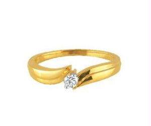 Buy Ag Real Diamond Stone Solitaire Band Ring online