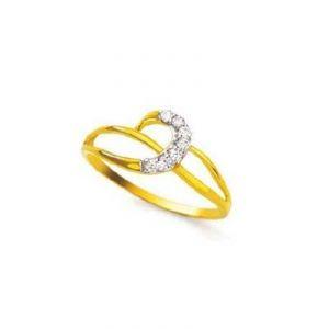 Buy A Slim Half Moon Shape Diamond Ring Agsr0165 online