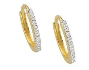 Buy Avsar Real Gold And Diamond Bali Type Earring Ear online