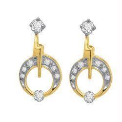 Buy Avsar Real Gold And Diamond Fancy Earring Ave037 online