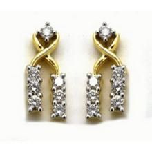 Buy Avsar Real Gold and Diamond Dangle Earring online