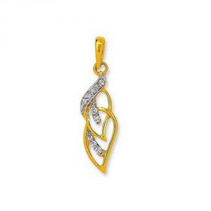 Buy TWESTED LEAVE DIAMOND PENDANT online