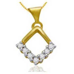 Buy Fancy Triangular Shape Diamond Pendant Avp0135 online
