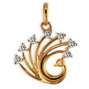 Buy Diamond DIAMOND PECOCK SHAPE PENDANT online