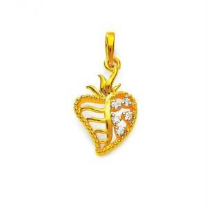 Buy Avsar Real Gold and Diamond Heart PENDANT online