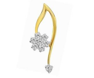 Buy Avsar Real Gold And Diamond Lovely Fancy Flower online