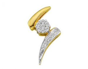 Buy Avsar Real Gold And Diamond Stunning Look Pendant online
