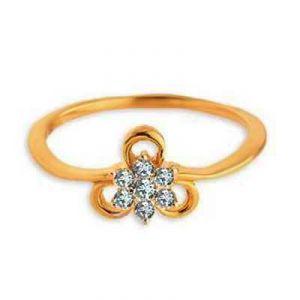 Buy Flower With Ribbon Diamond Ring Avr113 online