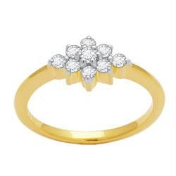 Buy Avsar Real Gold And Diamond Fashion Ring Avr028 online